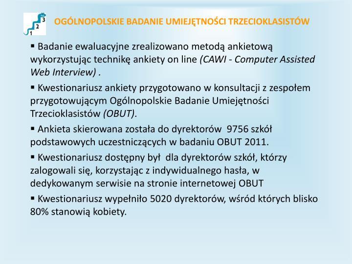 Og lnopolskie badanie umiej tno ci trzecioklasist w1