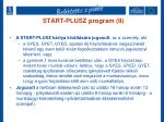 start plusz program ii