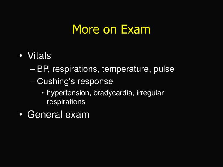 More on Exam