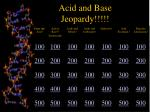 acid and base jeopardy1