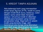5 kredit tanpa agunan