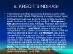 8 kredit sindikasi