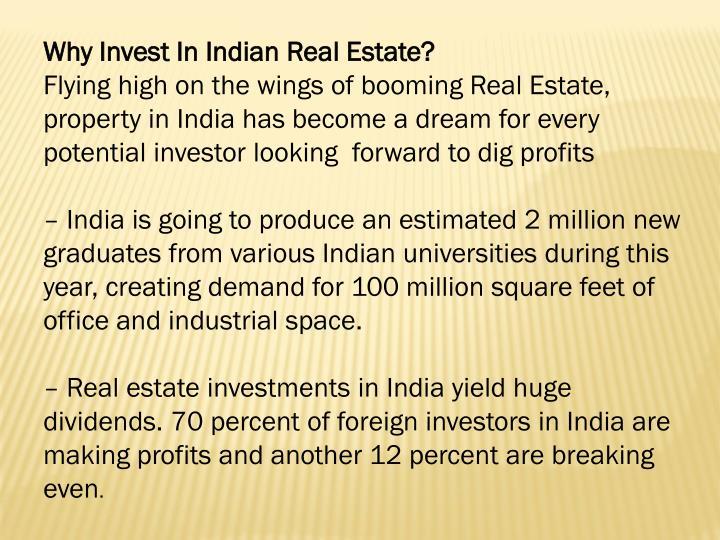 WhyInvestInIndianRealEstate?