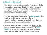 c statut et r le social
