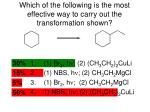 which of the following is the most effective way to carry out the transformation shown