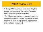 fmeca review team