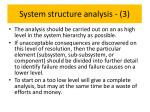 system structure analysis 3