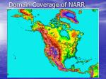 domain coverage of narr