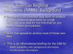north american regional reanalysis narr background