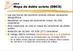ascii mapa de doble octeto dbcs