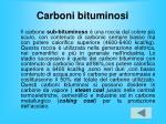 carboni bituminosi