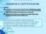 diagnosi e certificazione