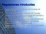 regulaciones introducidas