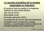 la canasta energ tica de la energ a sustentable en argentina
