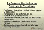 la devaluaci n la ley de emergencia econ mica