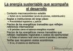 la energ a sustentable que acompa a el desarrollo