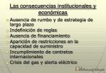 las consecuencias institucionales y econ micas