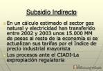 subsidio indirecto