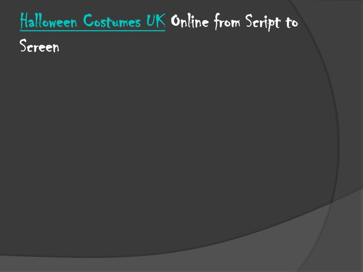 halloween costumes uk online from script to screen n.