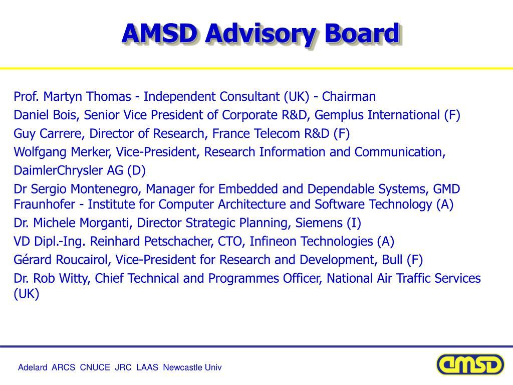 AMSD Advisory Board