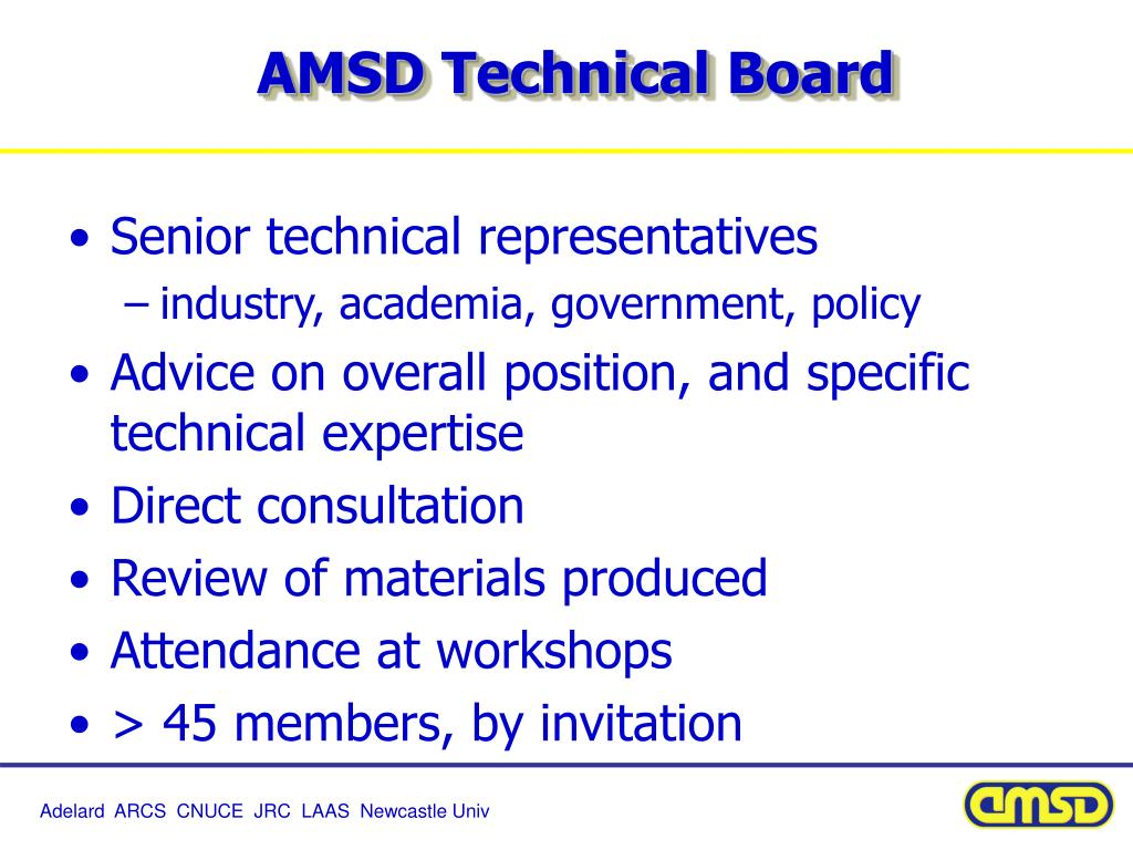 AMSD Technical Board