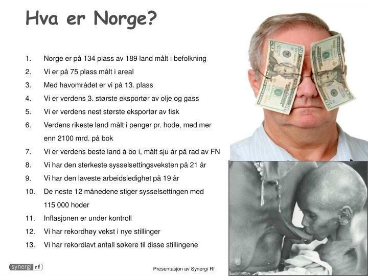 Hva er Norge?