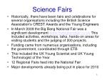science fairs