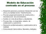 modelo de educaci n centrada en el proceso