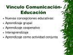 v nculo comunicaci n educaci n