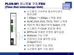 plus m1 tsu time slot interchange unit