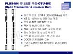 plus m4 otu b c optic transmitter receiver unit