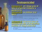 teratogenicidad