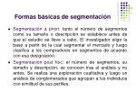 formas b sicas de segmentaci n