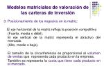 modelos matriciales de valoraci n de las carteras de inversi n13