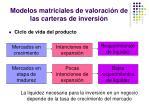 modelos matriciales de valoraci n de las carteras de inversi n3