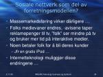 sosiale nettverk som del av forretningsmodellen