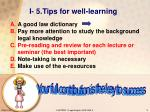 i 5 tips for well learning