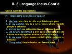 ii 3 language focus cont d