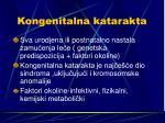 kongenitalna katarakta