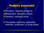 podjela katarakti