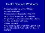 health services workforce14