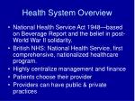 health system overview