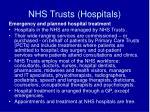 nhs trusts hospitals