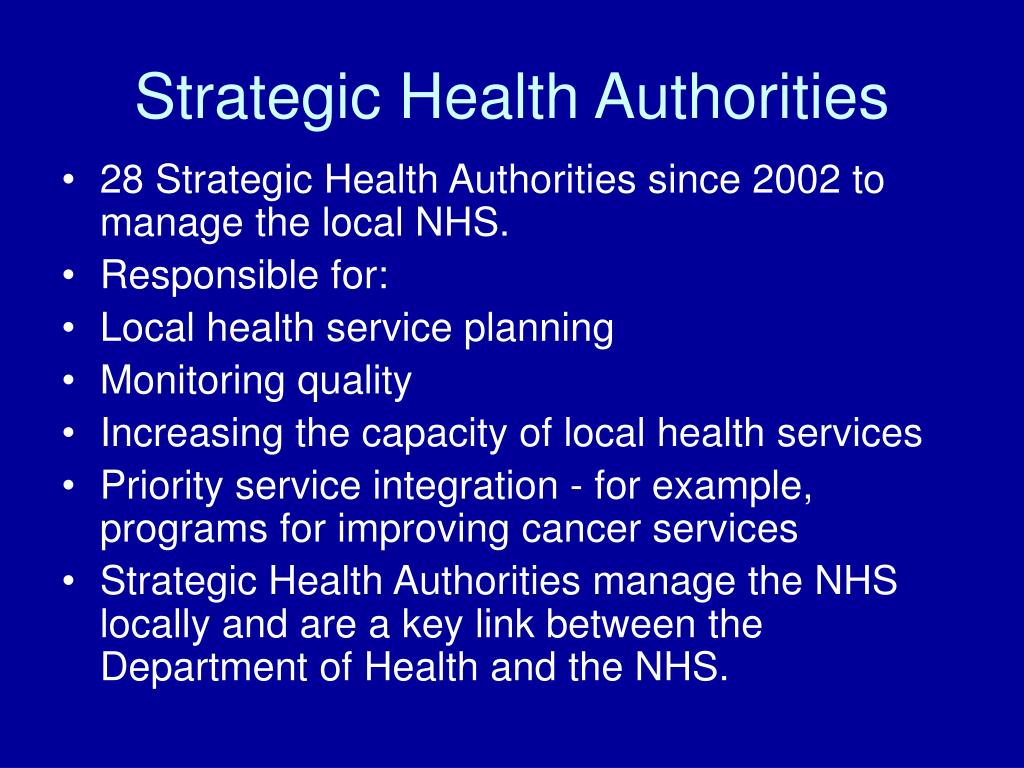 Strategic Health Authorities