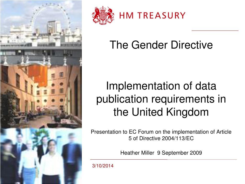the gender directive l.