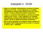 interpello n 72 09
