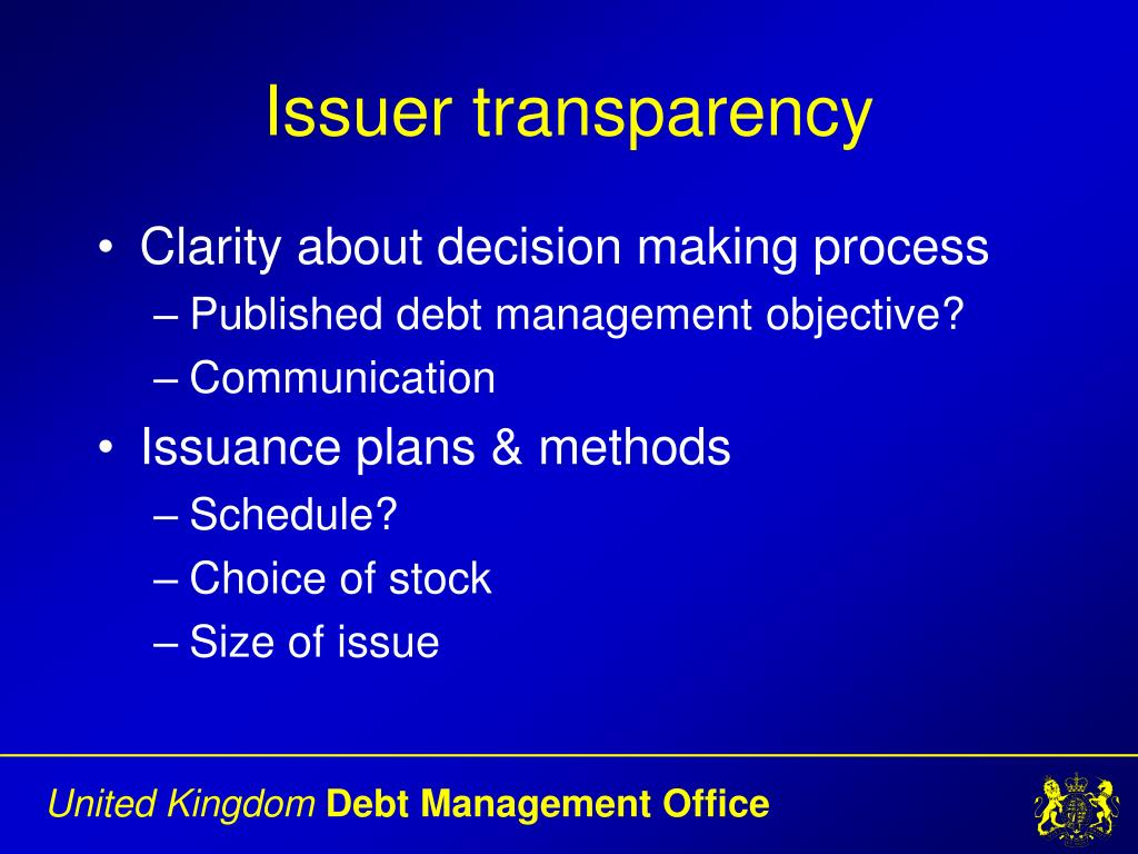 Issuer transparency