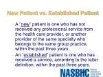 new patient vs established patient