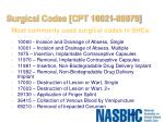 surgical codes cpt 10021 69979