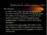 definici n de cultura organizacional2
